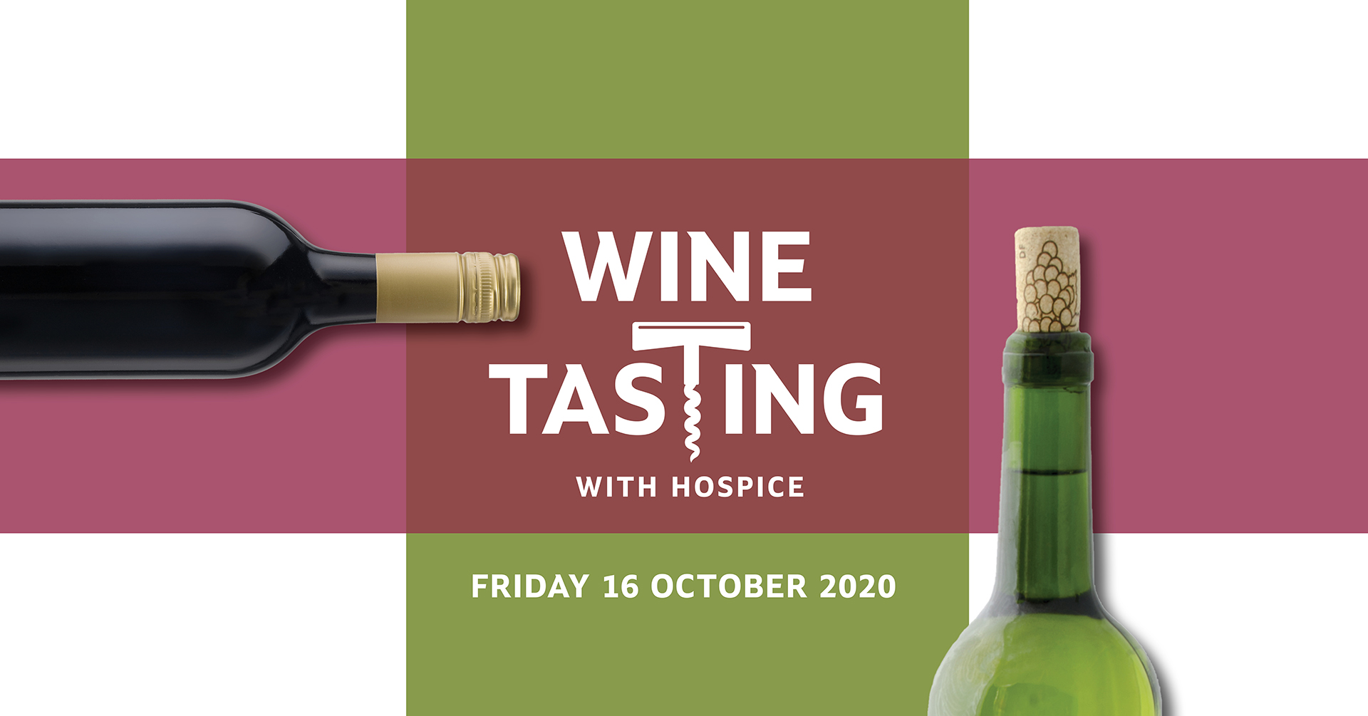 Wine tasting with Hospice Event banner