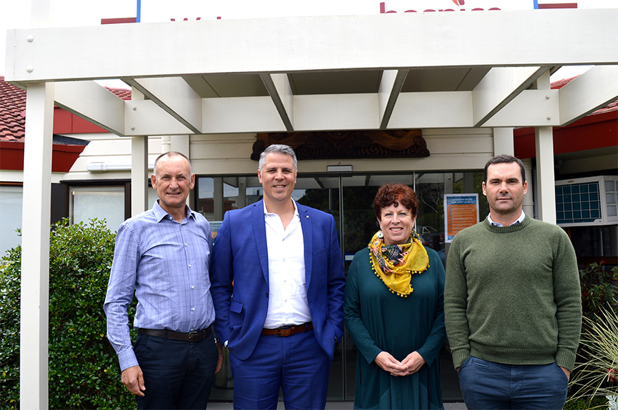 L to R_Project Director, Project Manager, Harbour Hospice Chief Executive and Rucon Director Dan Russek web