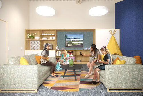 shore project family room