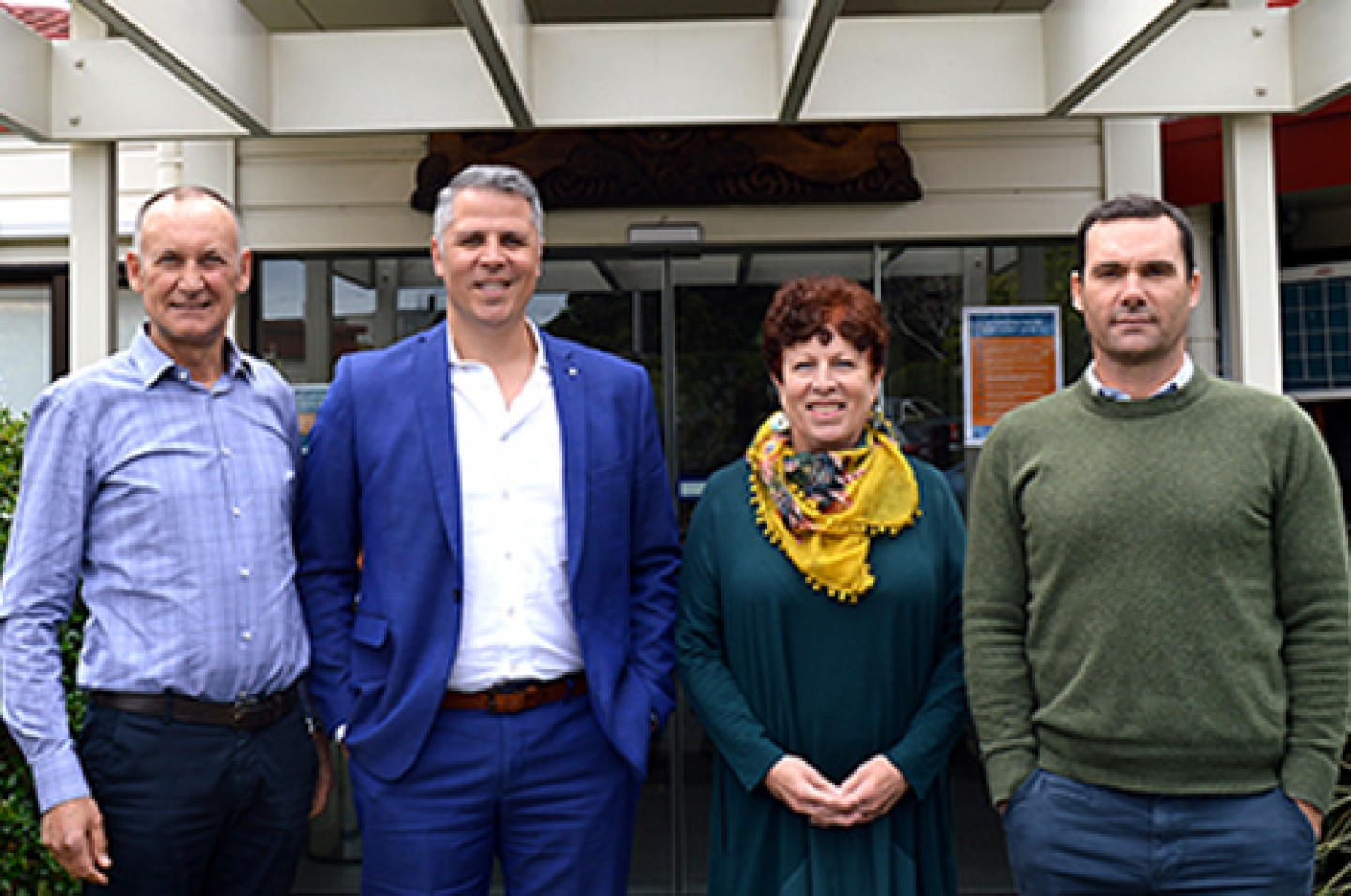L to R_Project Director, Project Manager, Harbour Hospice Chief Executive and Rucon Director Dan Russek blog